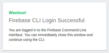 Firebase clis sign in success